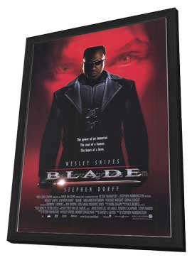Blade - 27 x 40 Movie Poster - Style A - in Deluxe Wood Frame