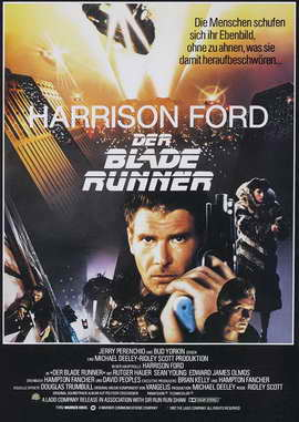 Blade Runner - 27 x 40 Movie Poster - German Style A