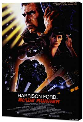 Blade Runner - 11 x 17 Movie Poster - Style A - Museum Wrapped Canvas