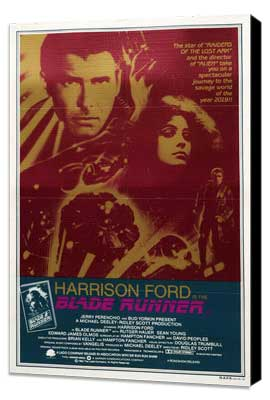Blade Runner - 11 x 17 Movie Poster - Style D - Museum Wrapped Canvas