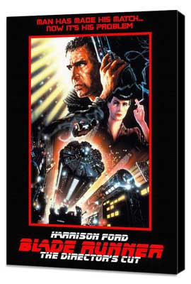 Blade Runner - 27 x 40 Movie Poster - Style F - Museum Wrapped Canvas