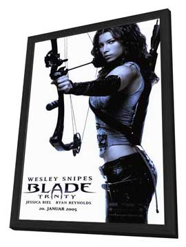 Blade: Trinity - 27 x 40 Movie Poster - Style C - in Deluxe Wood Frame