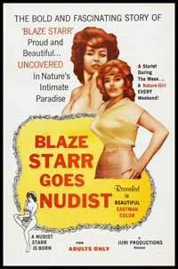 Blaze Starr Goes Nudist - 43 x 62 Movie Poster - Bus Shelter Style A
