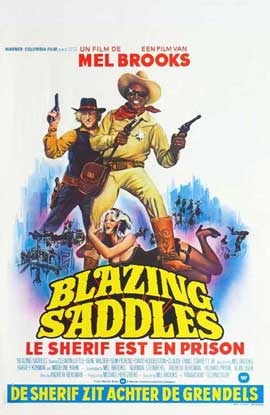 Blazing Saddles - 27 x 40 Movie Poster - Belgian Style A