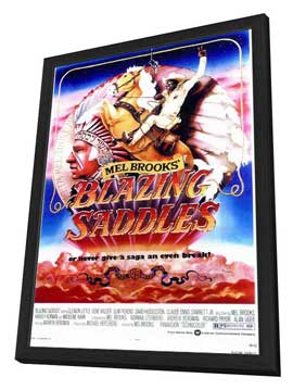 Blazing Saddles - 11 x 17 Movie Poster - Style C - in Deluxe Wood Frame
