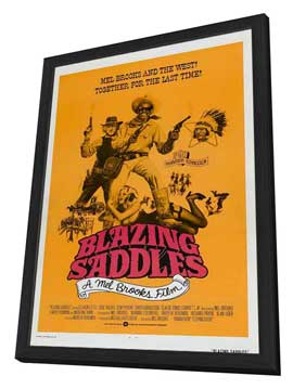 Blazing Saddles - 27 x 40 Movie Poster - Style E - in Deluxe Wood Frame