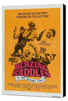 Blazing Saddles - 27 x 40 Movie Poster - Style E - Museum Wrapped Canvas