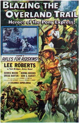 Blazing the Overland Trail - 11 x 17 Movie Poster - Style A