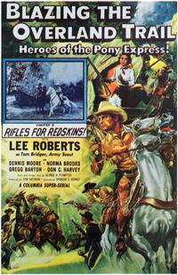 Blazing the Overland Trail - 43 x 62 Movie Poster - Bus Shelter Style A