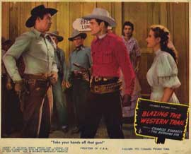 Blazing the Western Trail - 11 x 14 Movie Poster - Style D