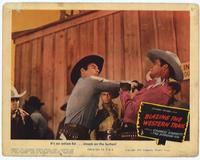 Blazing the Western Trail - 11 x 14 Movie Poster - Style F