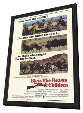 Bless the Beasts and Children - 11 x 17 Movie Poster - Style B - in Deluxe Wood Frame