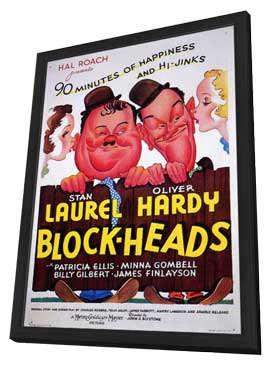 Block-heads - 11 x 17 Movie Poster - Style A - in Deluxe Wood Frame