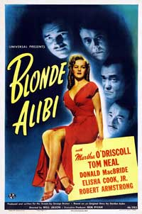 Blonde Alibi - 43 x 62 Movie Poster - Bus Shelter Style A