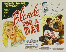 Blonde for a Day - 30 x 40 Movie Poster UK - Style A