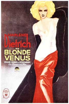 Blonde Venus - 11 x 17 Movie Poster - German Style A