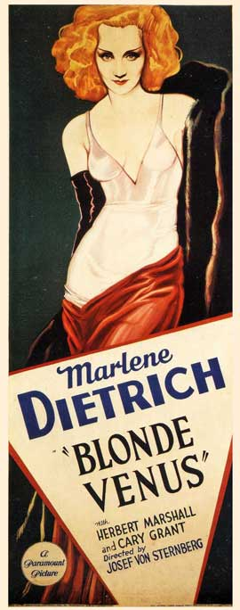 Blonde Venus - 27 x 40 Movie Poster - German Style A