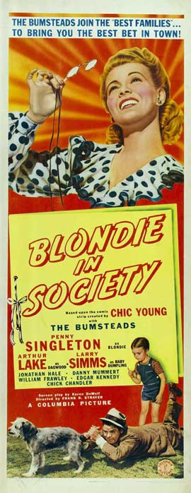 Blondie in Society - 14 x 36 Movie Poster - Insert Style A