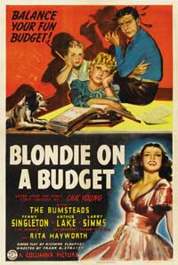 Blondie on a Budget - 43 x 62 Movie Poster - Bus Shelter Style A