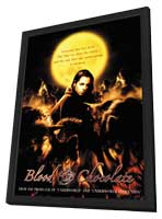 Blood and Chocolate - 11 x 17 Movie Poster - Style C - in Deluxe Wood Frame