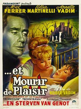 Blood and Roses - 11 x 17 Movie Poster - Belgian Style A