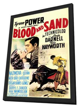 Blood and Sand - 11 x 17 Movie Poster - Style A - in Deluxe Wood Frame