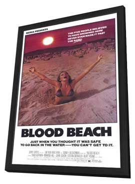 Blood Beach - 27 x 40 Movie Poster - Style B - in Deluxe Wood Frame