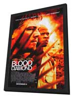 Blood Diamond - 27 x 40 Movie Poster - Style B - in Deluxe Wood Frame
