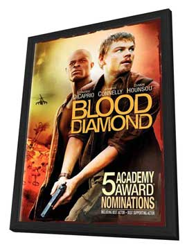 Blood Diamond - 27 x 40 Movie Poster - Style J - in Deluxe Wood Frame
