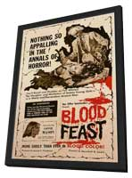 Blood Feast - 11 x 17 Movie Poster - Style A - in Deluxe Wood Frame