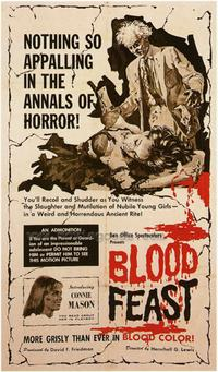Blood Feast - 43 x 62 Movie Poster - Bus Shelter Style A