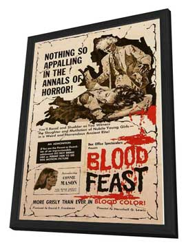 Blood Feast - 27 x 40 Movie Poster - Style A - in Deluxe Wood Frame