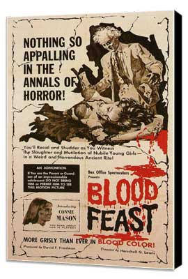 Blood Feast - 27 x 40 Movie Poster - Style A - Museum Wrapped Canvas
