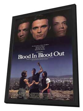 Blood In . . . Blood Out: Bound by Honor - 27 x 40 Movie Poster - Style A - in Deluxe Wood Frame