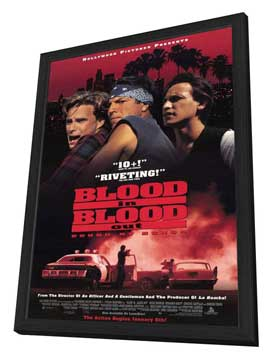 Blood In . . . Blood Out: Bound by Honor - 27 x 40 Movie Poster - Style B - in Deluxe Wood Frame