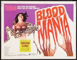 Blood Mania - 22 x 28 Movie Poster - Half Sheet Style A