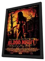 Blood Night - 11 x 17 Movie Poster - Style B - in Deluxe Wood Frame