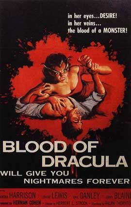 Blood of Dracula - 11 x 17 Movie Poster - Style A