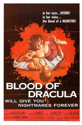 Blood of Dracula - 27 x 40 Movie Poster - Style A
