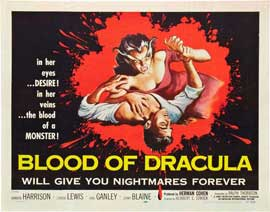Blood of Dracula - 22 x 28 Movie Poster - Half Sheet Style A