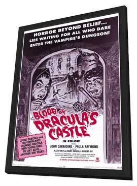 Blood of Dracula's Castle - 11 x 17 Movie Poster - Style A - in Deluxe Wood Frame