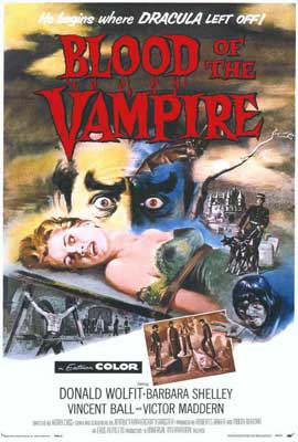 Blood of the Vampire - 27 x 40 Movie Poster - Style A