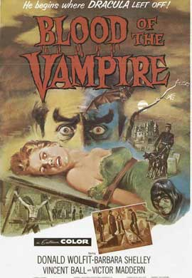 Blood of the Vampire - 11 x 17 Movie Poster - Style B