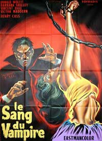 Blood of the Vampire - 11 x 17 Movie Poster - French Style A