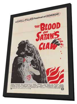 Blood on Satan's Claw - 11 x 17 Movie Poster - Style A - in Deluxe Wood Frame