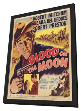 Blood on the Moon - 11 x 17 Movie Poster - Style A - in Deluxe Wood Frame
