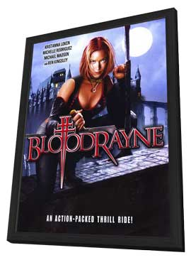 BloodRayne - 11 x 17 Movie Poster - Style D - in Deluxe Wood Frame