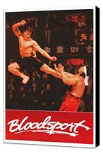 Bloodsport - 27 x 40 Movie Poster - Style B - Museum Wrapped Canvas