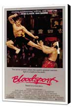 Bloodsport - 27 x 40 Movie Poster - Style A - Museum Wrapped Canvas