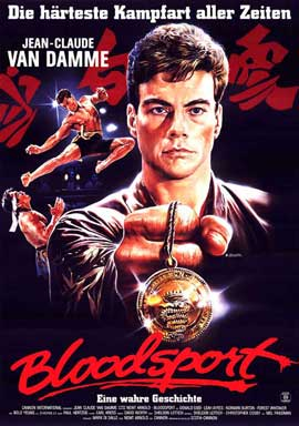 Bloodsport - 27 x 40 Movie Poster - German Style A